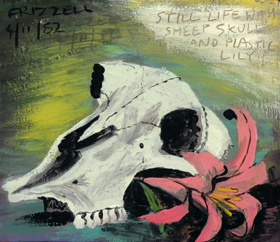 Still Life with Sheep's Skull and Plastic Lilly