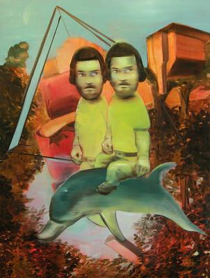 Untitled (two dwarfs and dolphin); 2007