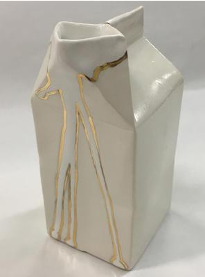 Gold Dribble Milk Carton; 2018